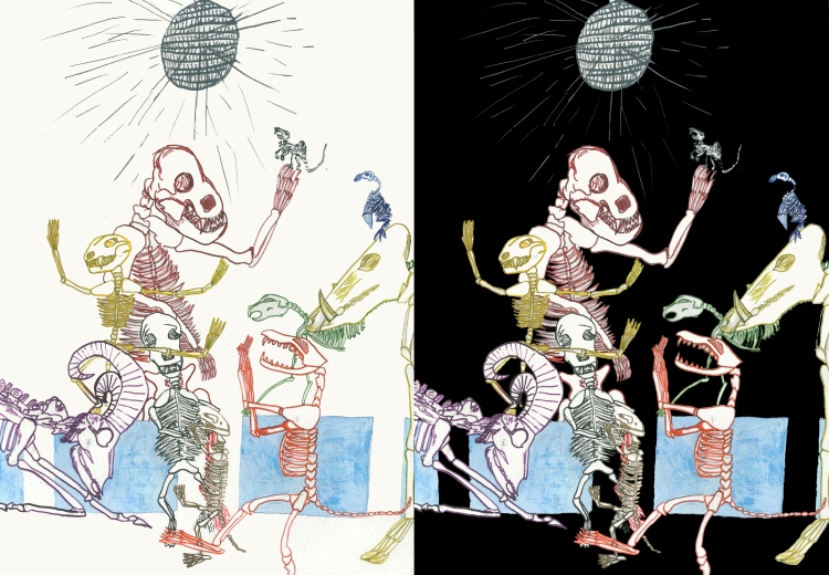 Double Skeleton Dance Party